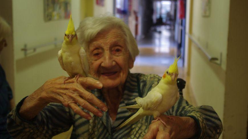 Pour ses 112 ans, Mathilde Lartigue avait réalisé son rêve, faire un tour dans un camion de pompiers.