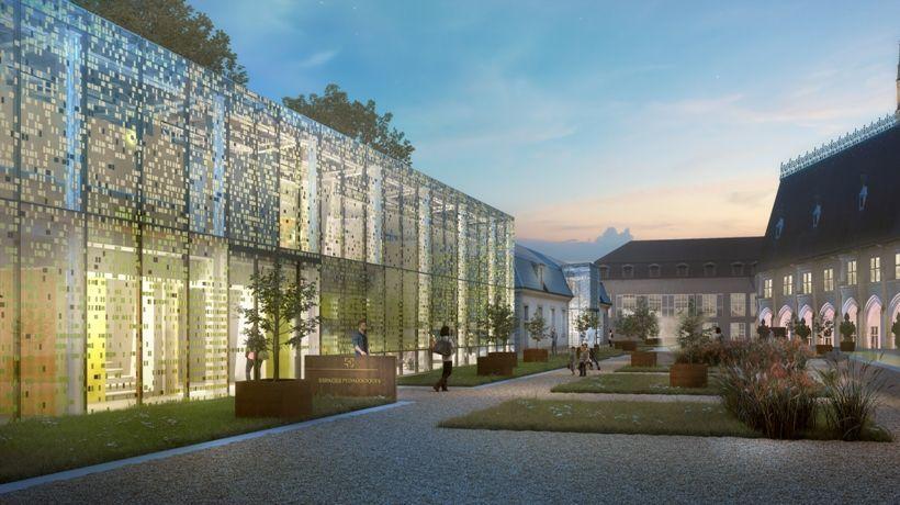 L'entrée du musée se fera par ce nouveau bâtiment en verre