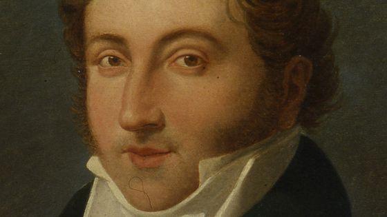 Portrait du compositeur Gioachino Rossini, 1818.