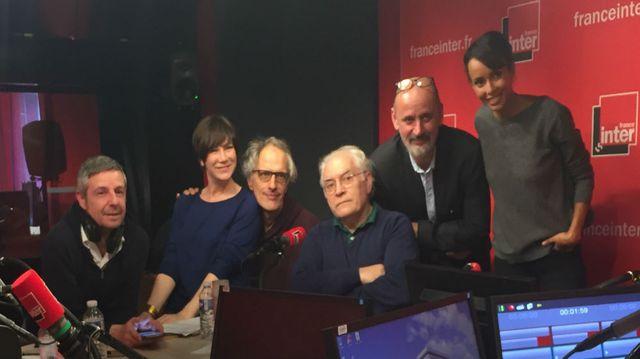 Vous Les Femmes, de gauche à droite : Anthony Bellanger, Virginie Hocq, Hervé Pauchon, Albert Algoud, Daniel Morin et Sonia Rolland