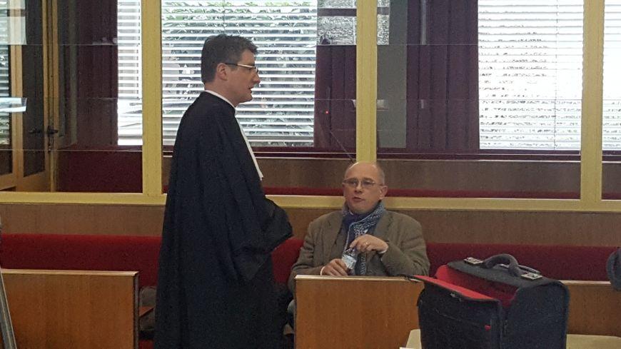 Frédéric Benedite ancien directeur de France Eoliennes et son avocat Damien Pinczon Du Sel