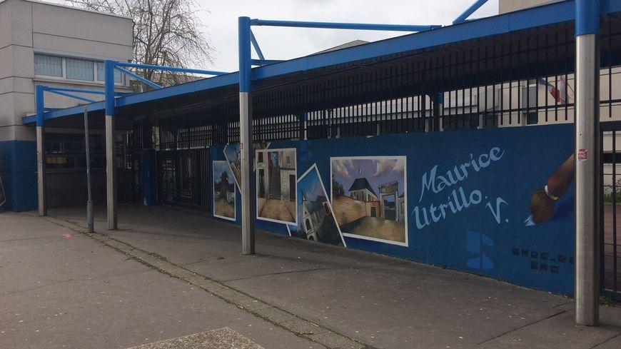 Le lycée Maurice Utrillo, à Stains