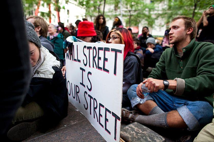 Des manifestants du mouvement Occupy Wall Street à Manhattan en septembre 2011