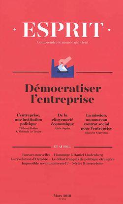 Démocratiser l'entreprise // Revue Esprit