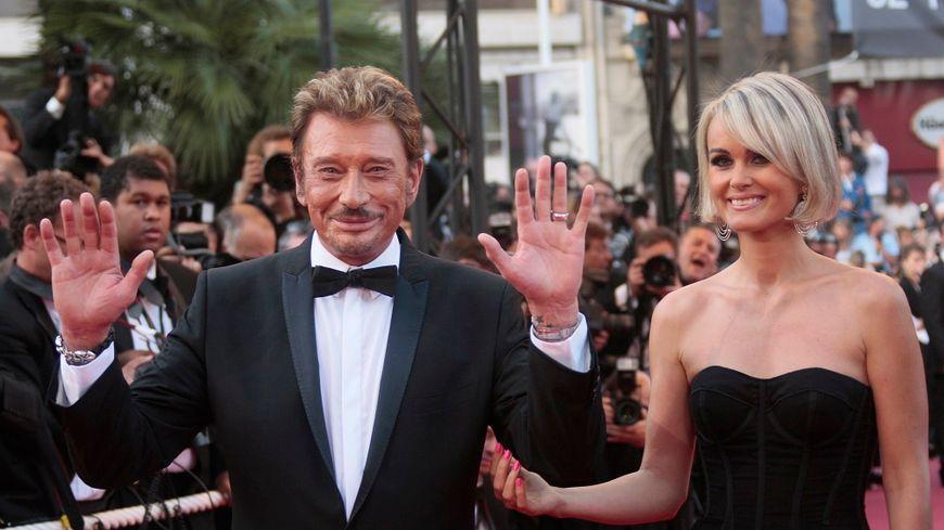 Johnny et Laeticia Hallyday au festival de Cannes, en 2009.