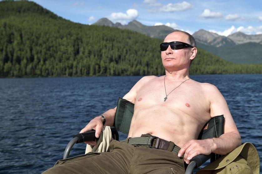 Bain de soleil pour le président russe Vladimir Poutine