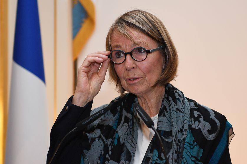 La ministre de la Culture Françoise Nyssen présente ses vœux à la presse en janvier 2018, à Paris.