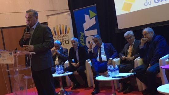 Max Roustan, maire d'Alès et président d'Alès Agglomération.