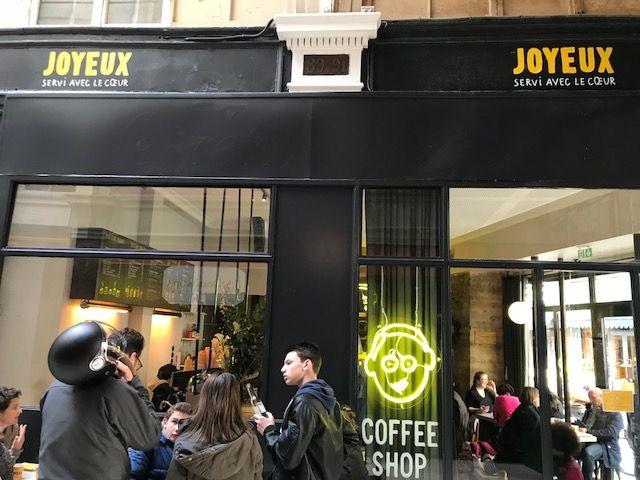 café Joyeux rue Saint Augustin à Paris