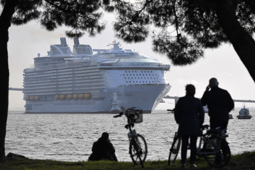 Le Symphony of the seas a quitté Saint-Nazaire