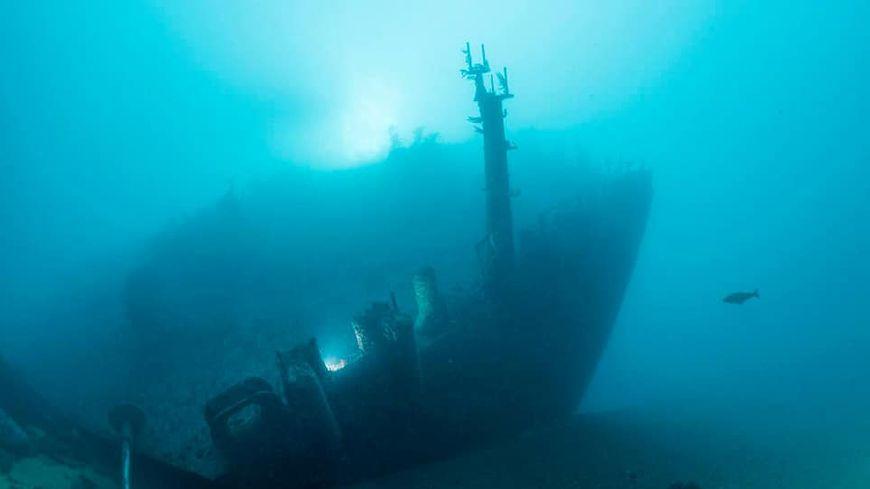 Ludovic Granier en plongée sur l'Amoco Cadiz
