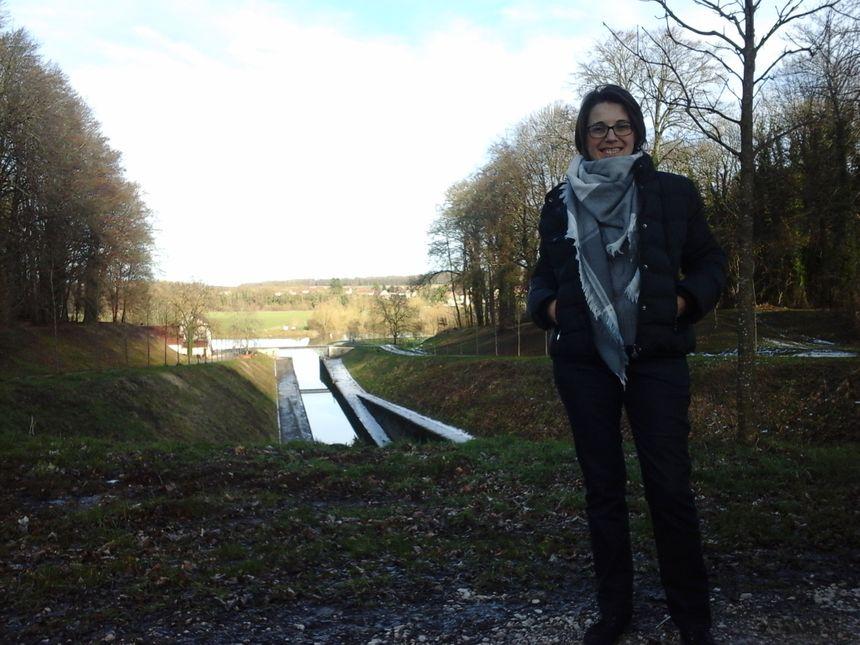 Alexandra Michon, directrice de l'Office du Tourisme, nous a conduit jusqu'à l'incontournable tunnel de Saint-Albin...