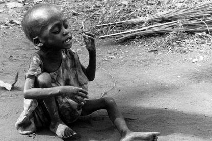 Un enfant du Biafra le 26 février 1969.