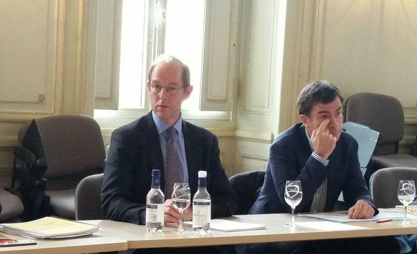 Allan Sichel et Bernard Farge, président et vice-président du CIVB