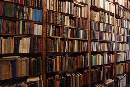 L'interieur d'une librairie spécialisée dans les livres de collection