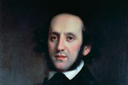 Portrait du compositeur et chef d'orchestre Félix Mendelssohn. 1856, tableau d'Eduard Magnus. 19ème siècle. Berlin,