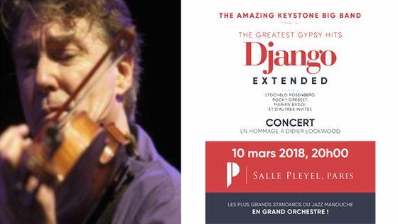 Didier Lockwood / affiche concert Django Extended