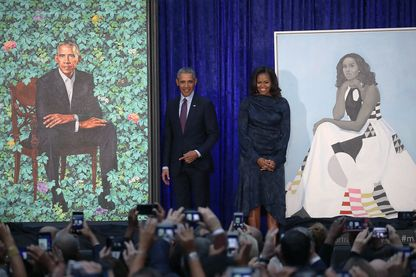 Michelle et Barack Obama à la National Gallery