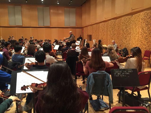 Cours Juilliard, répétition d'orchestre