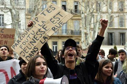 Manifestation à Marseille en février 2018 contre ParcoursSup