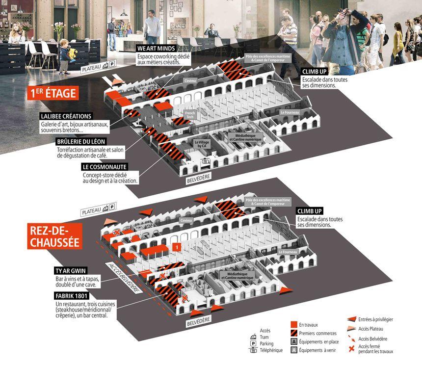 Les commerces occuperont 5500 m² aux Ateliers des Capucins