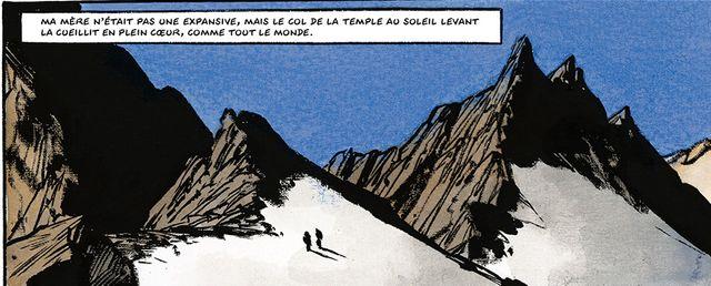 Détail d'une planche d'Ailefroide de Jean-Marc Rochette