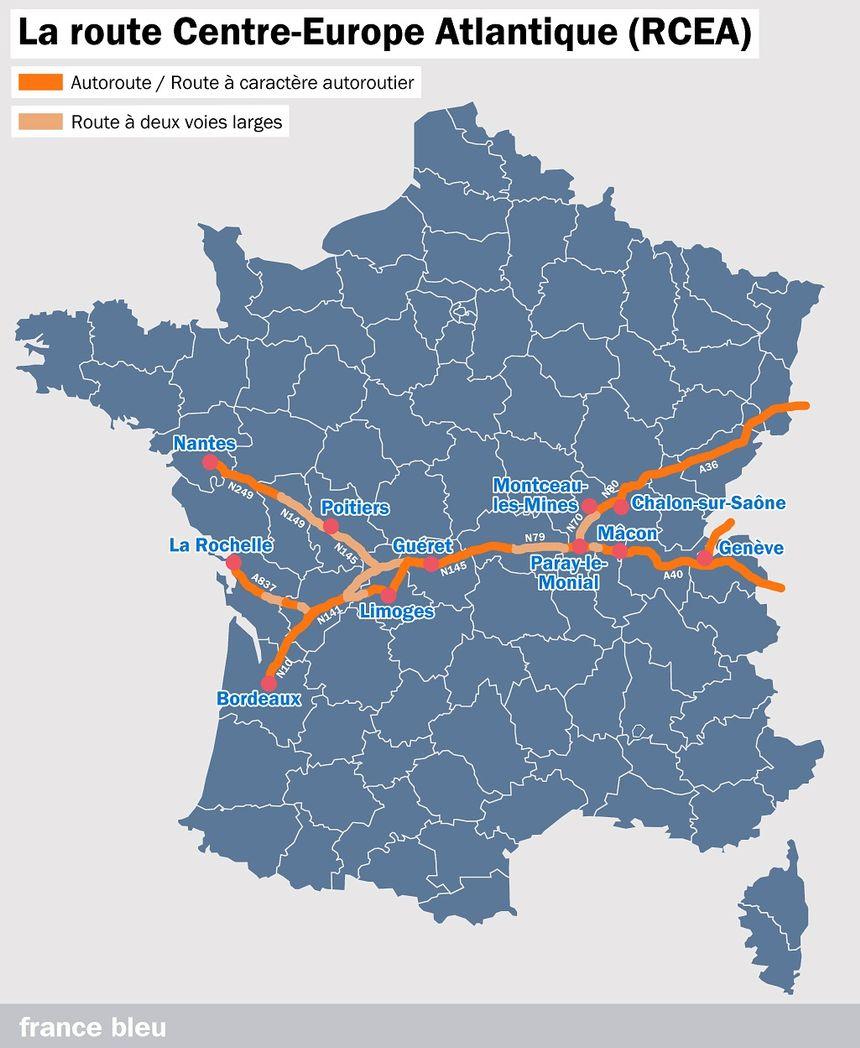 La route Centre-Europe Atlantique (RCEA)