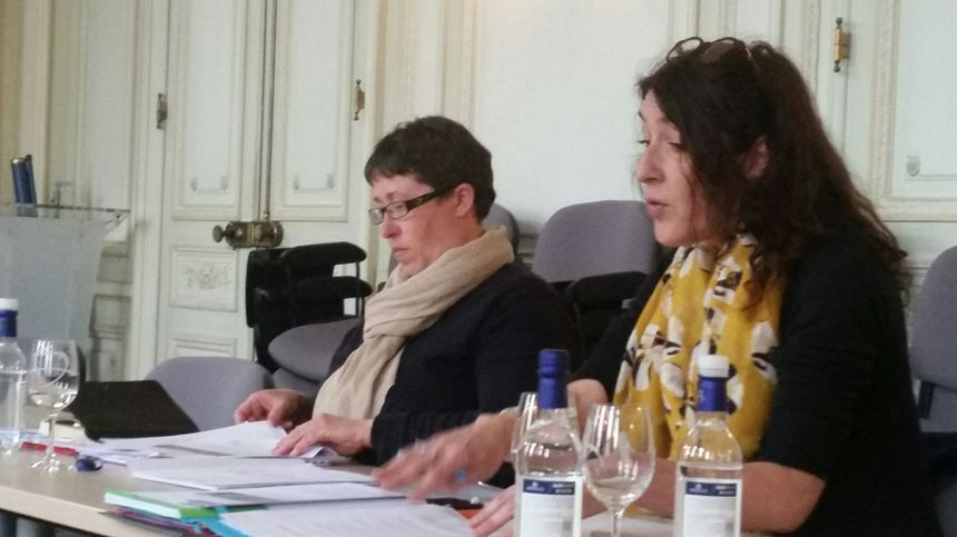 Marie-Lys Bubeyran et Valérie Murat, du collectif anti-pesticides