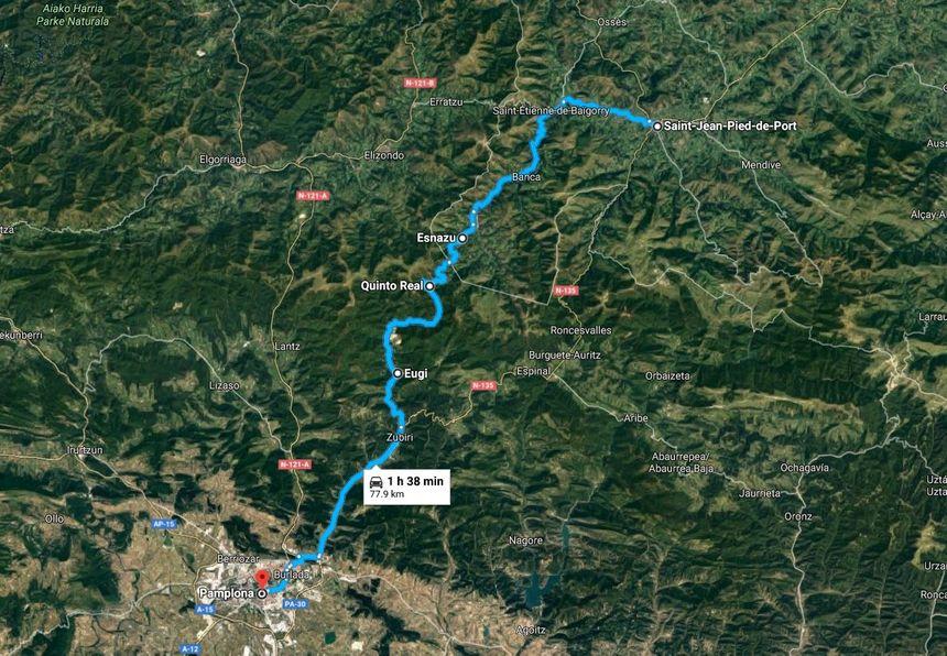 L' Autre route pour se rendre à Pampelune, en passant par le Pays Quint
