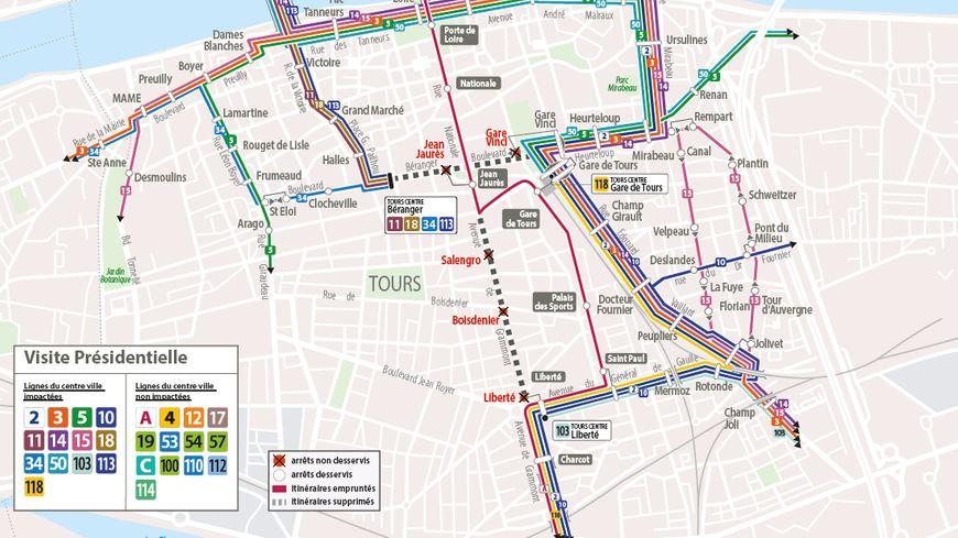 Les perturbations sur le réseau de bus Fil Bleu