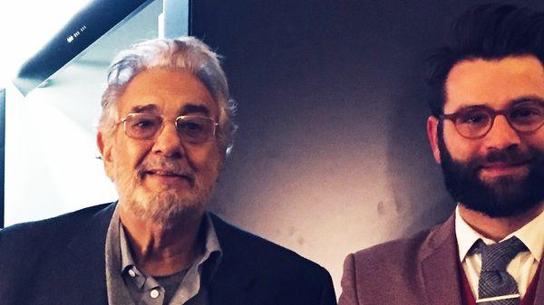 Placido Domingo, ténor, chef d'orcheste, Jorge Chaminé, baryton invités de Clément Rochefort