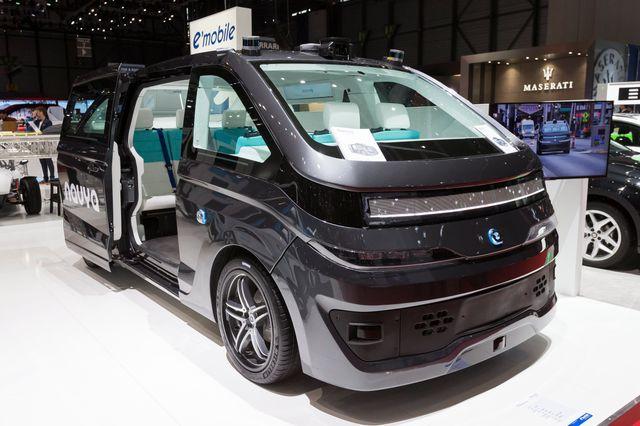 l'Autonom CAB de Navya au salon de l'auto de Genève