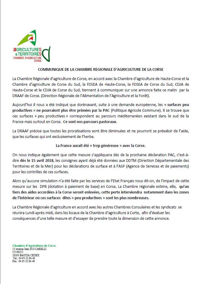 Politique Agricole Commune  Certaines Aides En Pril