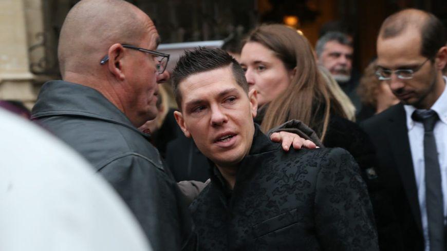 Jonathann Daval, lors des obsèques de son épouse Alexia à Gray