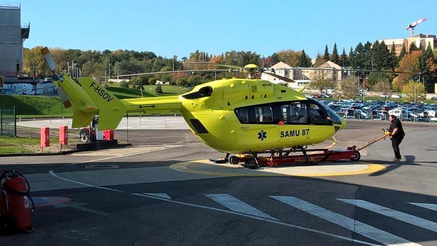 Le nouvel hélicoptère du Samu 87, présenté en octobre 2017 à Limoges