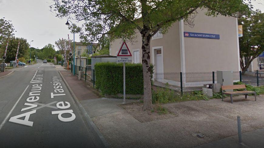 L'accident a eu lieu ce mercredi matin en gare de St Seurin sur l'Isle