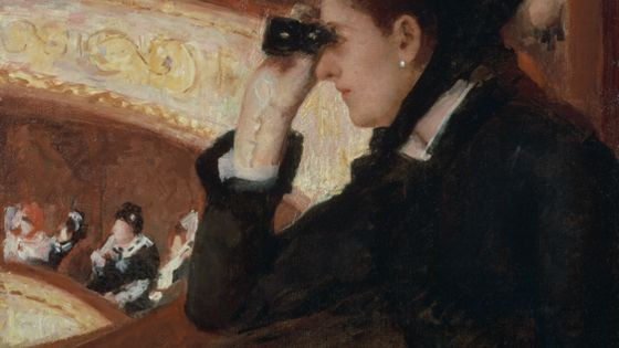 Mary Cassatt, Dans la loge, vers 1877-1878, huile sur toile, 81,28 x 66,04 cm, Inv. 10.35, Boston, Museum of Fine Arts, The Hayden Collection - Charles Henry Hayden Fund