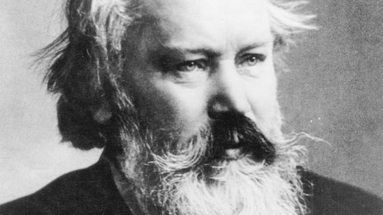 Portrait du compositeur allemand Johannes Brahms vers 1890