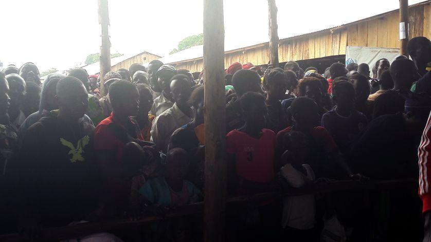 Les réfugiés sont d'abord accueillis dans un centre avant d'être transférés ailleurs