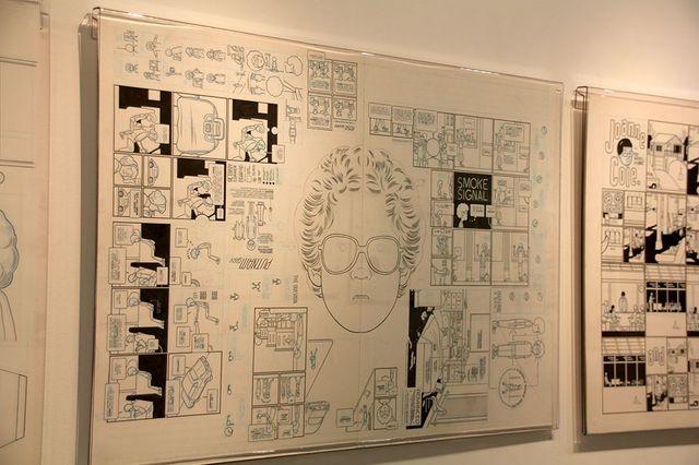 Chris Ware à la Galerie Martel à Paris