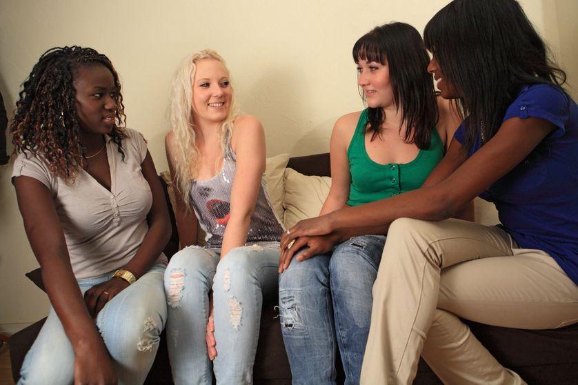 Mignon noir les adolescents porno