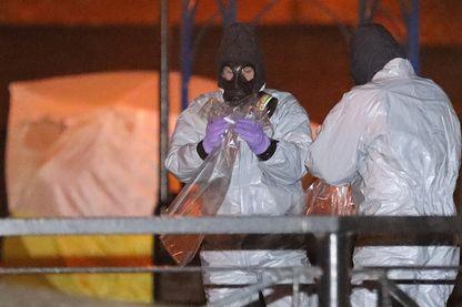 Scène de crime à Salisbury où Sergei Skripal, l'agent double russe a été empoisonné.
