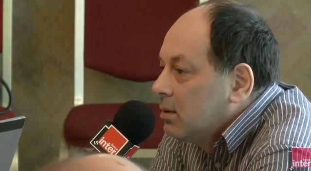 Evgueni Guindilis dans le studio de France Inter à Moscou
