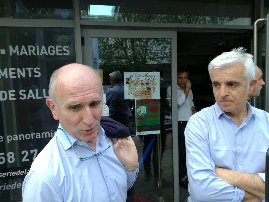 Laurent Irazusta (dreapta) și Jean-Louis Pontacq (stânga) sunt două noii membri ai consiliului Supravegherea Rugby Pro'AB Rugby Pro