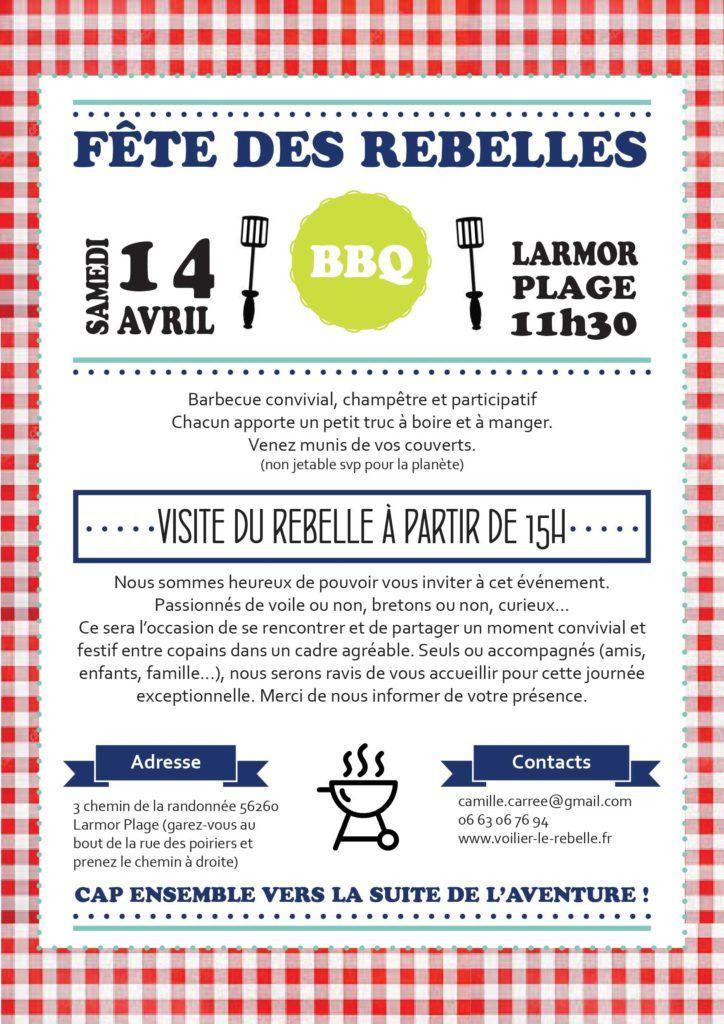 La fête des Rebelles pour découvrir le voilier samedi 14 avril