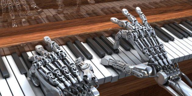 Robot qui joue au piano
