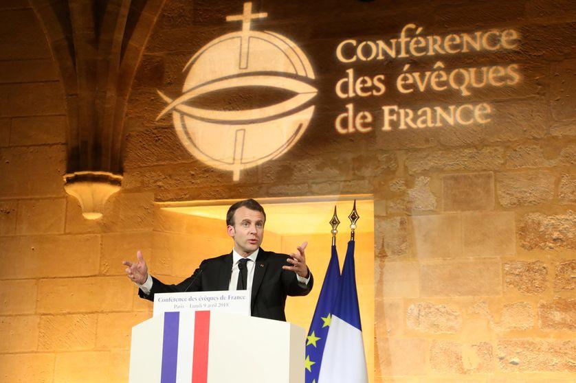 Emmanuel Macron s'est exprimé devant les évêques de France au Collège des Bernardins le 9 avril 2018