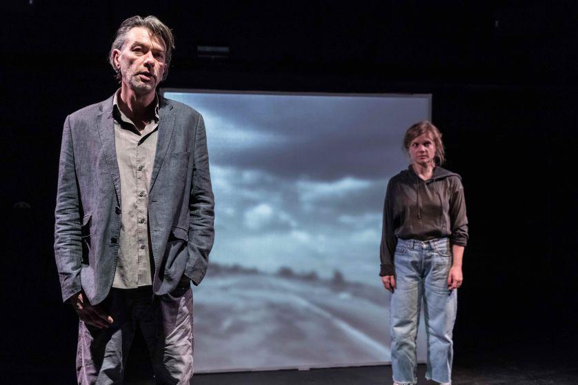 Anne-Lise Heimburger et Laurent Sauvage, photo du spectacle