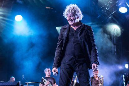 Jacques Higelin en concert au Fnac Live Festival à l'Hôtel de Ville le 21 juillet 2013 à Paris.