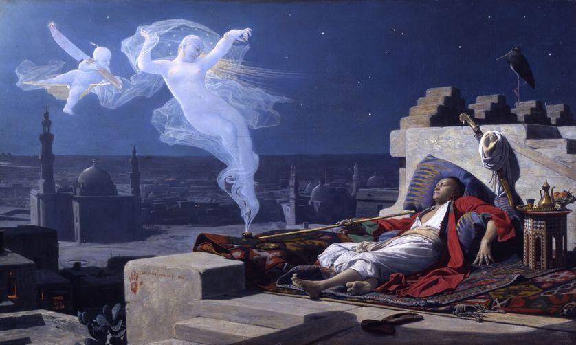 Le Songe de l'eunuque du peintre Jean-Jules-Antoine Lecomte du Nouÿ. Wikipédia
